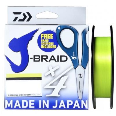 J braid x4 0.07mm 135m +ножницы ( желтый)